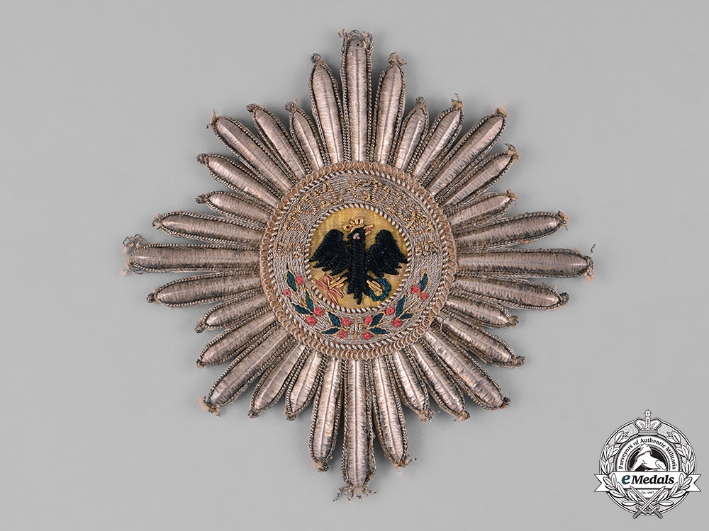 eMedals-Prussia, State. An Order of the Black Eagle, Embroidered Mantle Star, c.1820