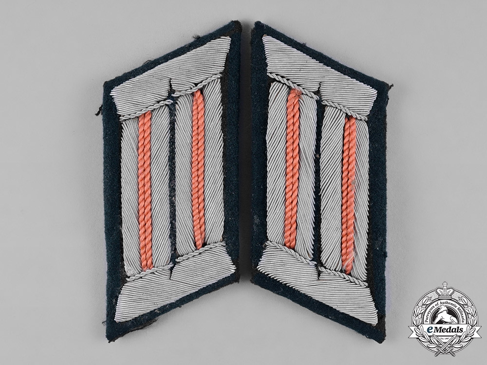 eMedals-Germany, Heer. A Set of Heer (Army) Panzer Officer's Collar Tabs