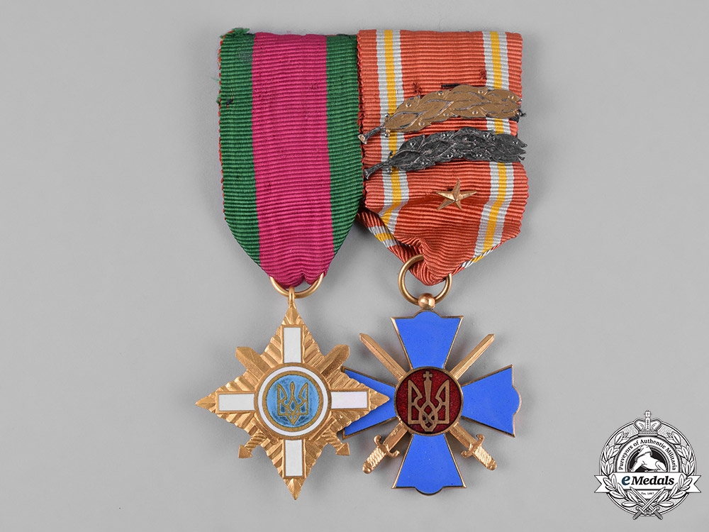 eMedals-Ukraine. A Veteran's Pair of Medals & Decorations
