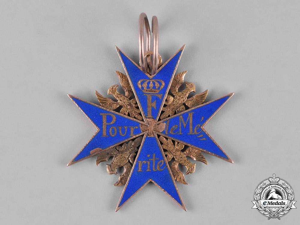 eMedals-Prussia, Kingdom. A Rare Napoleonic Wars Pour-le-Mérite, Published Example, c.1815
