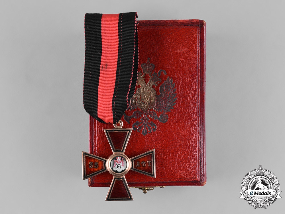 eMedals-Russia, Imperial. An Order of Saint Vladimir in Gold, 35-Year Long Service Cross by Keibel, c.1866
