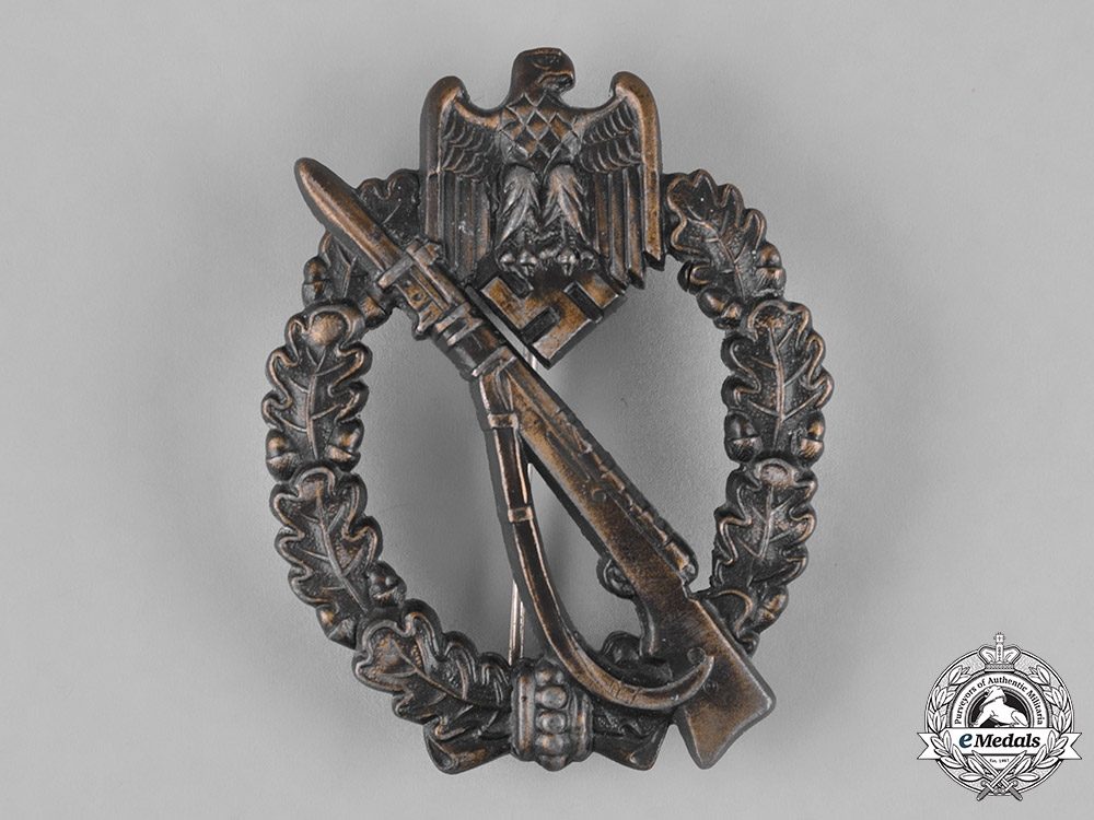 eMedals-Germany, Heer. An Infantry Assault Badge, Bronze Grade, by Josef Feix & Söhne