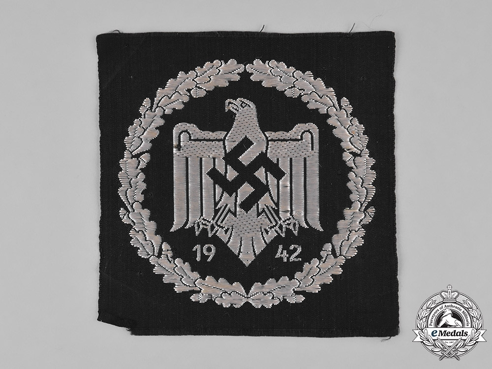 eMedals-Germany, DRL. A DRL Silver Sports Badges, Cloth Version