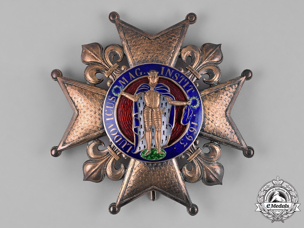 eMedals-France, II Empire. A Royal Order of St. Louis, I Class Grand Cross Star, c.1850
