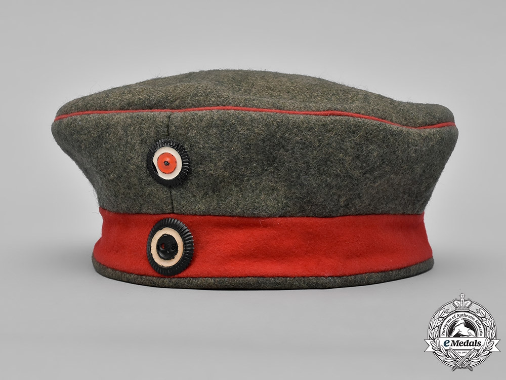 eMedals-Germany, Imperial. A M1907 Prussian Infantry NCO Field Cap, c.1916
