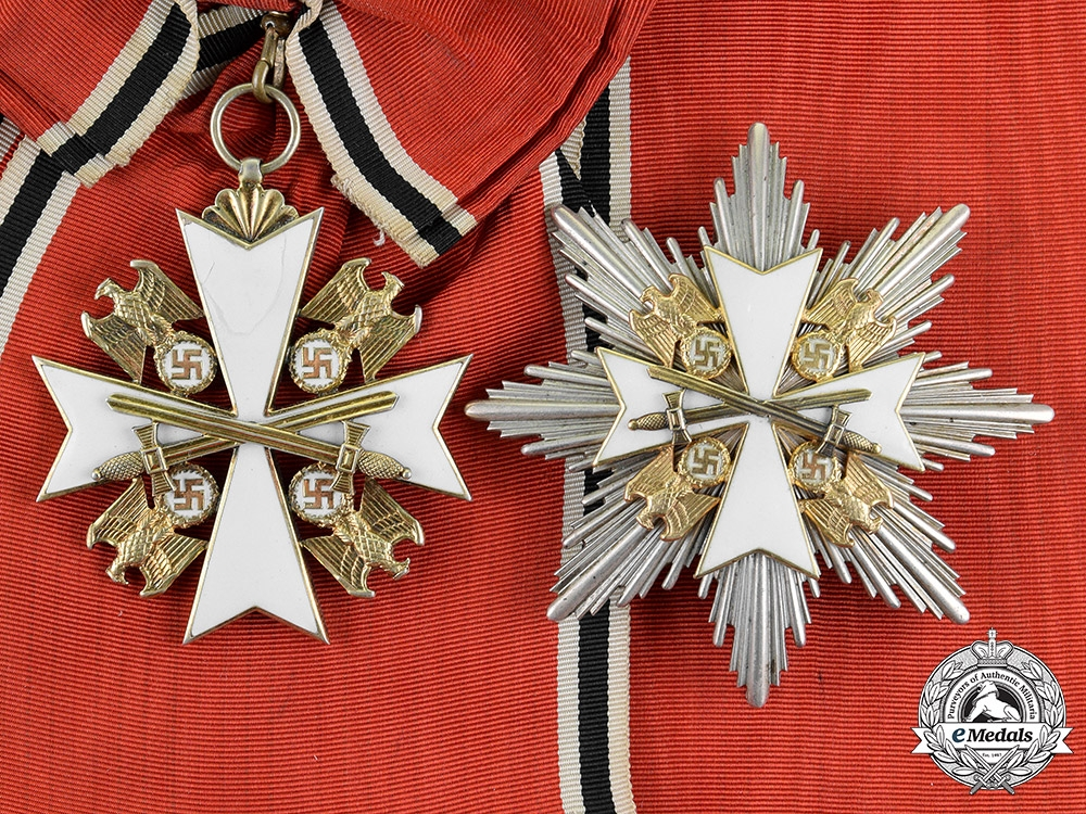 eMedals-Germany. An Order of the German Eagle, with Swords, Grand Cross, by Gebrüder Godet & Co.