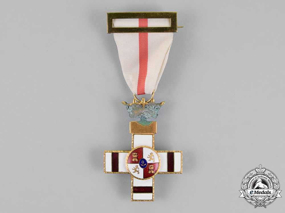 eMedals-Spain, Franco Period. An Order of Military Merit, White Distinction Pension, 1st Class Cross, c.1950