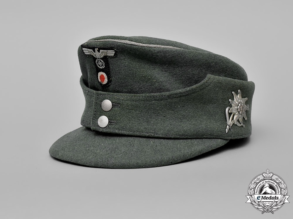 eMedals-Germany, Heer.   A Wehrmacht Officer's Mountain Troop Field Cap
