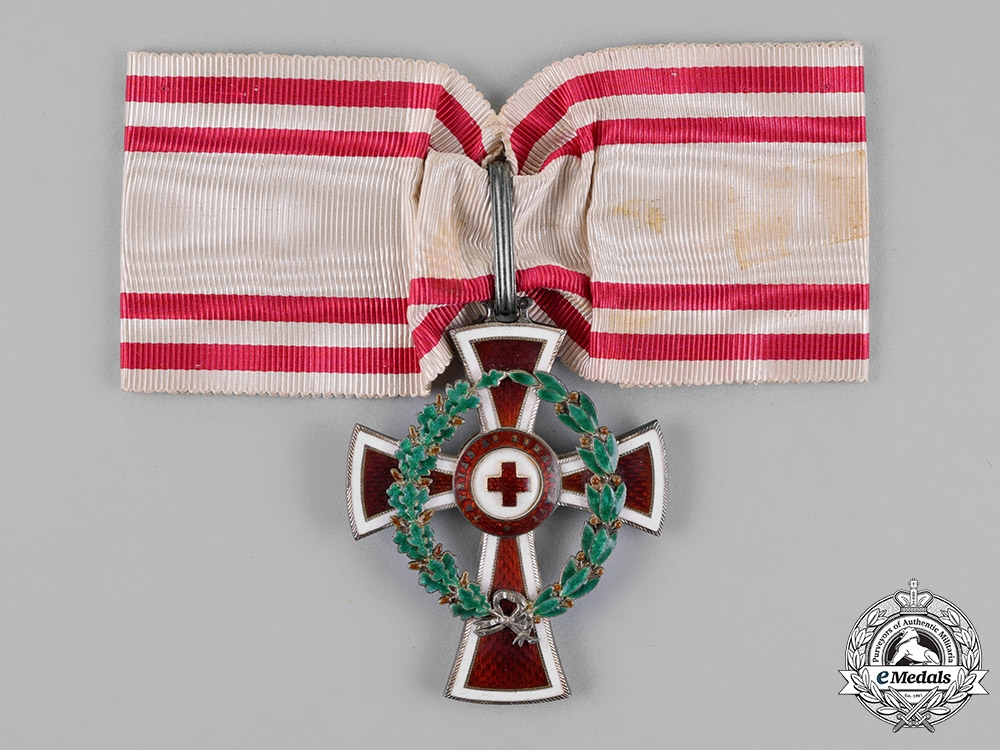 eMedals-Austria, Empire. An Honour Decoration of the Red Cross, First Class with War Decoration, c.1914