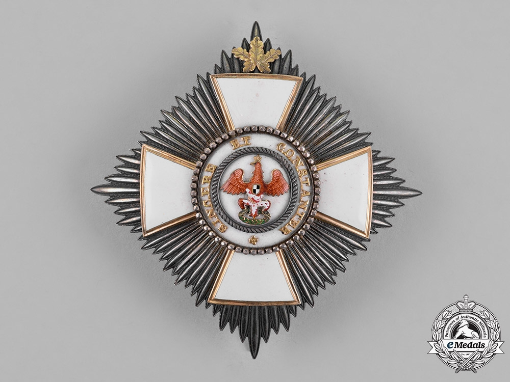 eMedals-Prussia, State. A Red Eagle Order, II Class Star with Oakleaves, c.1860