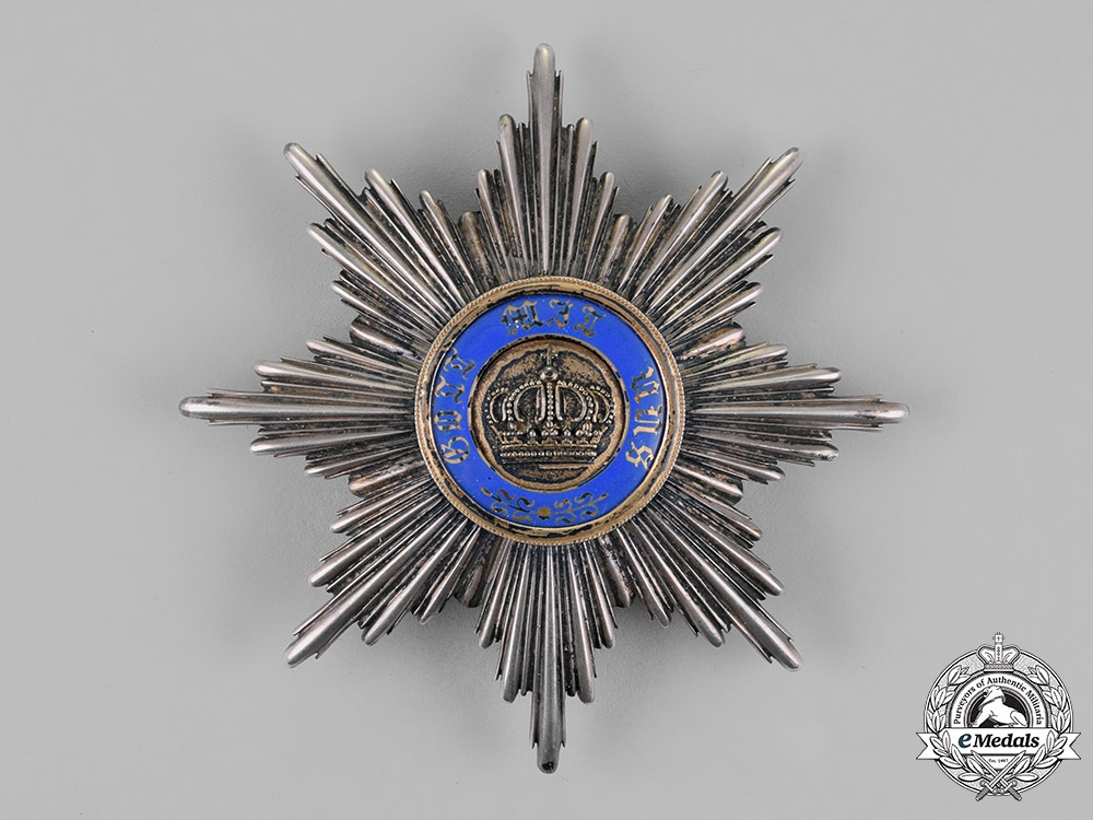 eMedals-Prussia, State. A Royal Order of the Crown, First Class Star, by Johann Wagner & Sohn, c.1900