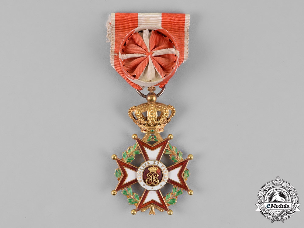 eMedals-Monaco, Principality. An Order of Saint Charles, Officer's Cross, c.1910