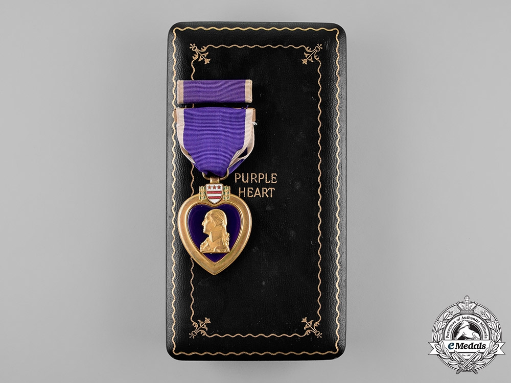 eMedals-United States. A Purple Heart to Signalman Luiz, USN, KIA by Kamikaze, USS Louisville