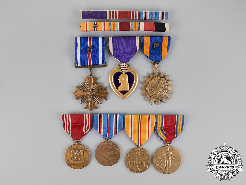 """eMedals-United States. A China Theater Group to First Lieutenant """"Jack"""" Clifford, Navigator who flew Ninety-Seven Missions & Parachuted to Safety Twice"""