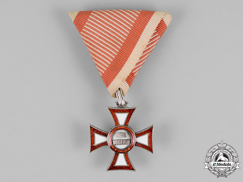 eMedals-Austria, Empire. A Military Merit Cross, by C. F Rothe, c.1900