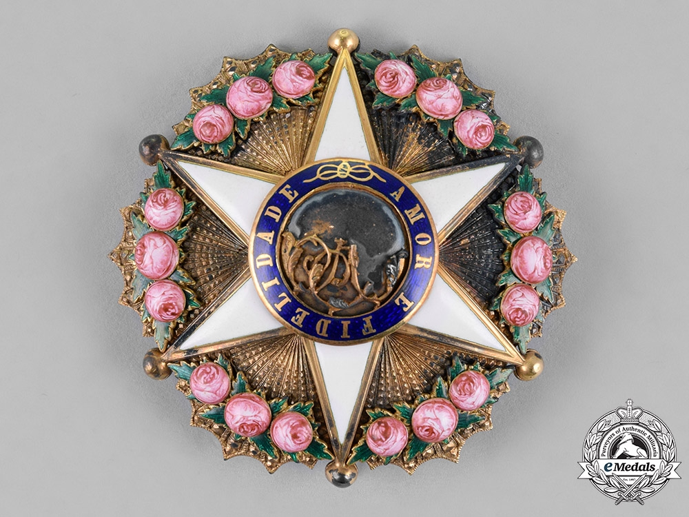 eMedals-Brazil, Independent Empire. An Order of the Rose in Gold, Officer's Star, c.1880