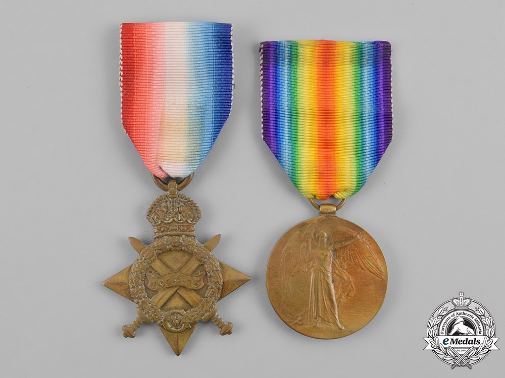 eMedals-Canada. A First War Pair, to Private Alfred Townsend, 24th Infantry Battalion