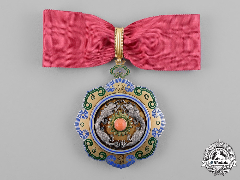 eMedals-China, Qing Dynasty. A Double Dragon Order, 2nd Class, 2nd Grade, by F.Rothe, c.1890