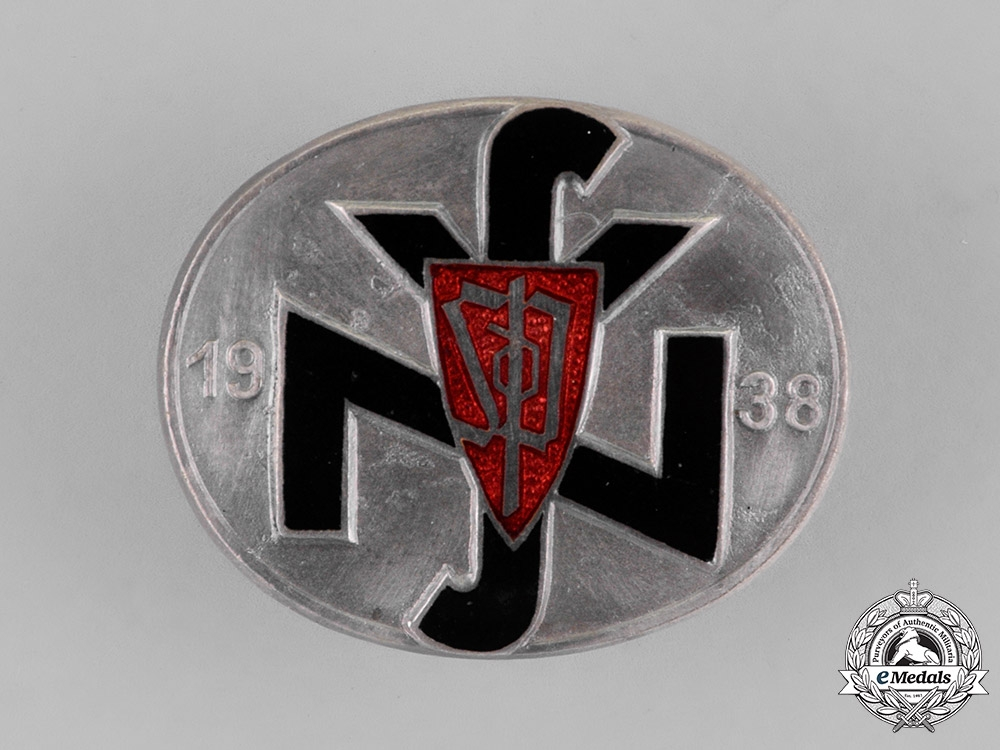 eMedals-Germany. A Rare Czech National Socialist People's Welfare (NSV) Leader's Badge 1938