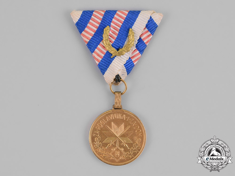 eMedals-Croatia. A Wound Medal for Three Wounds, Gold Grade, c.1943