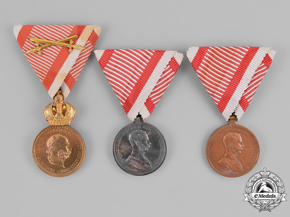 eMedals-Austria, Empire. Three Austrian Imperial Medals and Awards