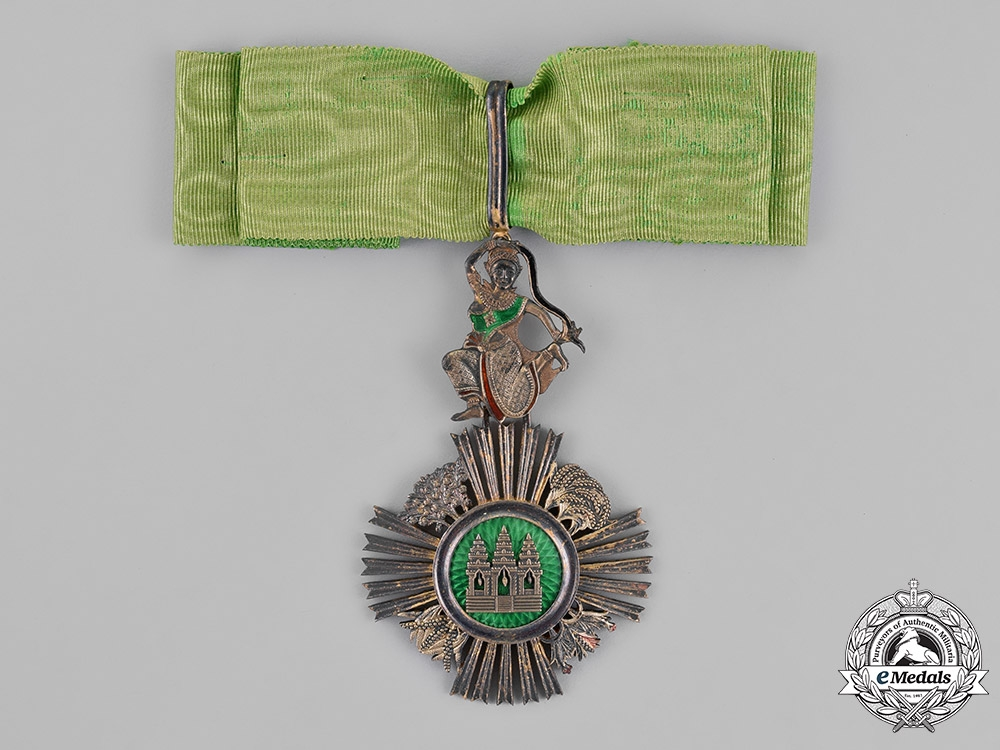 eMedals-Cambodia, French Colonial. A Royal Order of Sowathara, Commander, by Adrien Chaubillon, c.1890