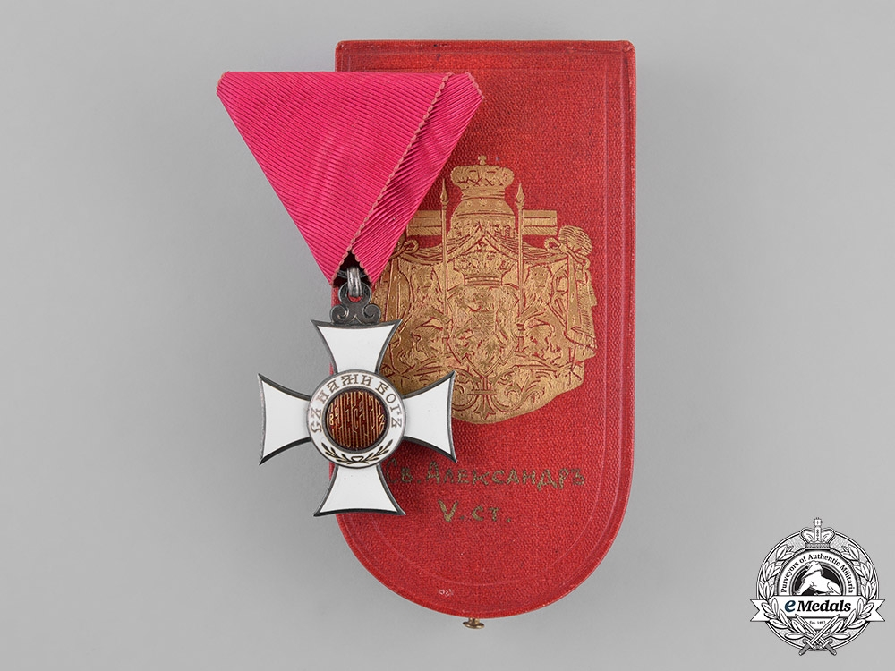 eMedals-Bulgaria, Kingdom. An Order of St. Alexander, 5th Class, Knight, by Rothe, Wien