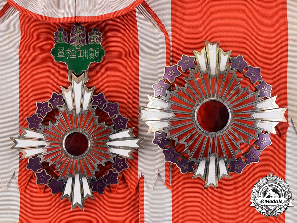 eMedals-Japan, Empire. An Order of the Paulownia Flowers, Grand Cordon, c.1900