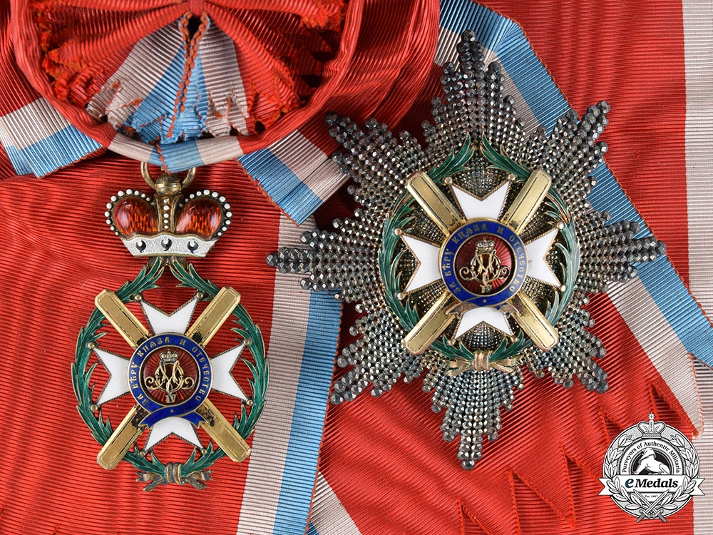 eMedals-Serbia, Kingdom. An Order of Takovo, Grand Cross, by Rothe, c.1880