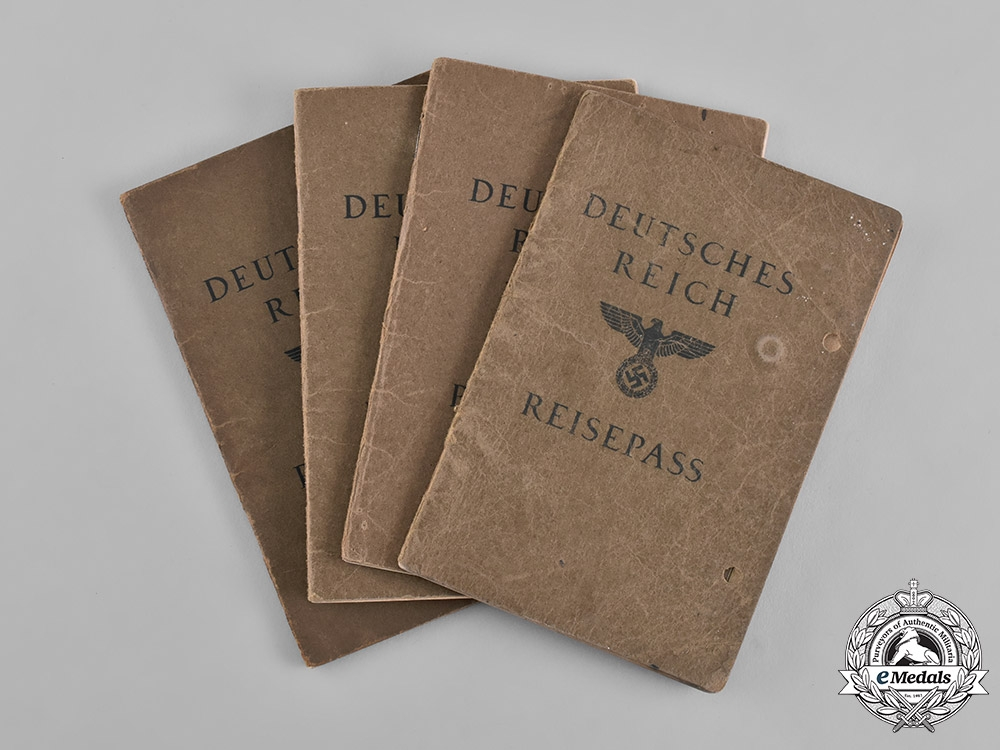 eMedals-Germany, Third Reich. A Lot of Four Third Reich Passports