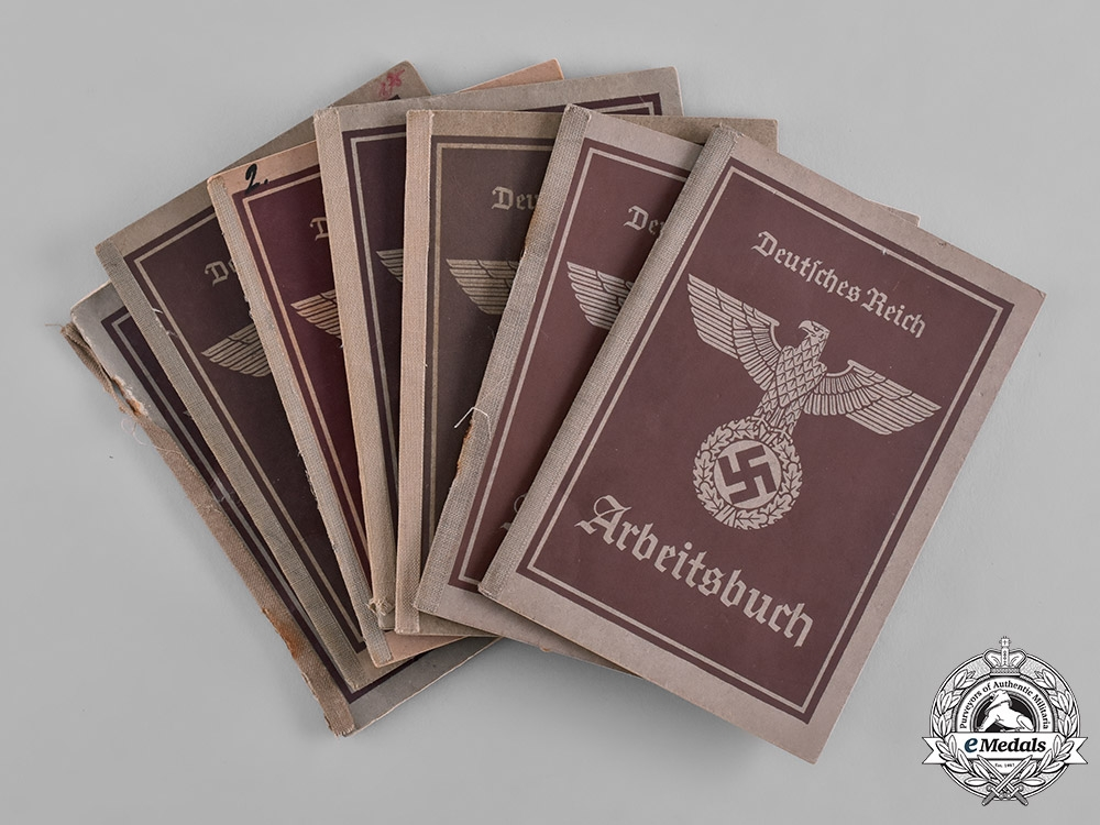eMedals-Germany, Third Reich. A Lot of Seven of German Labour Books