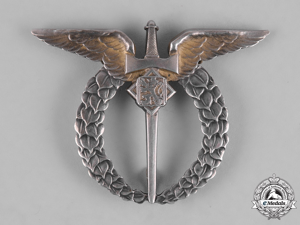 eMedals-Czechoslovakia, Republic. An Air Force Pilot Badge, by Provaznik, c.1942