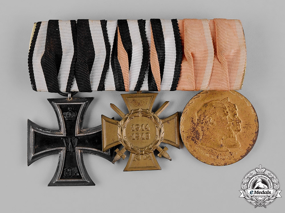 eMedals-Germany, Imperial. A First War Medal Bar