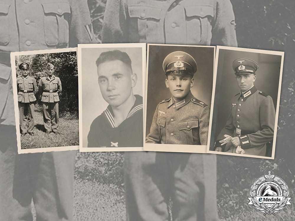 eMedals-Germany. A Group of Photos of Wehrmacht Personnel