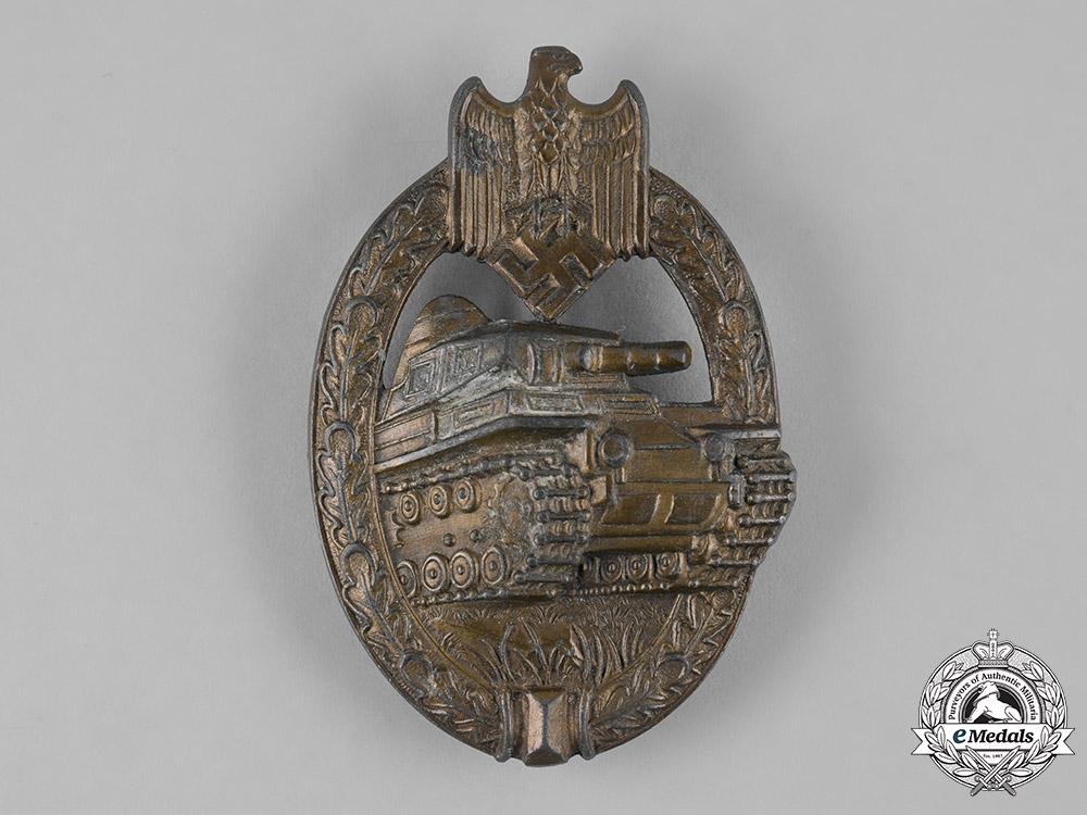 eMedals-Germany, Wehrmacht. A Panzer Assault Badge, Bronze Grade, by Adolf Schwerdt