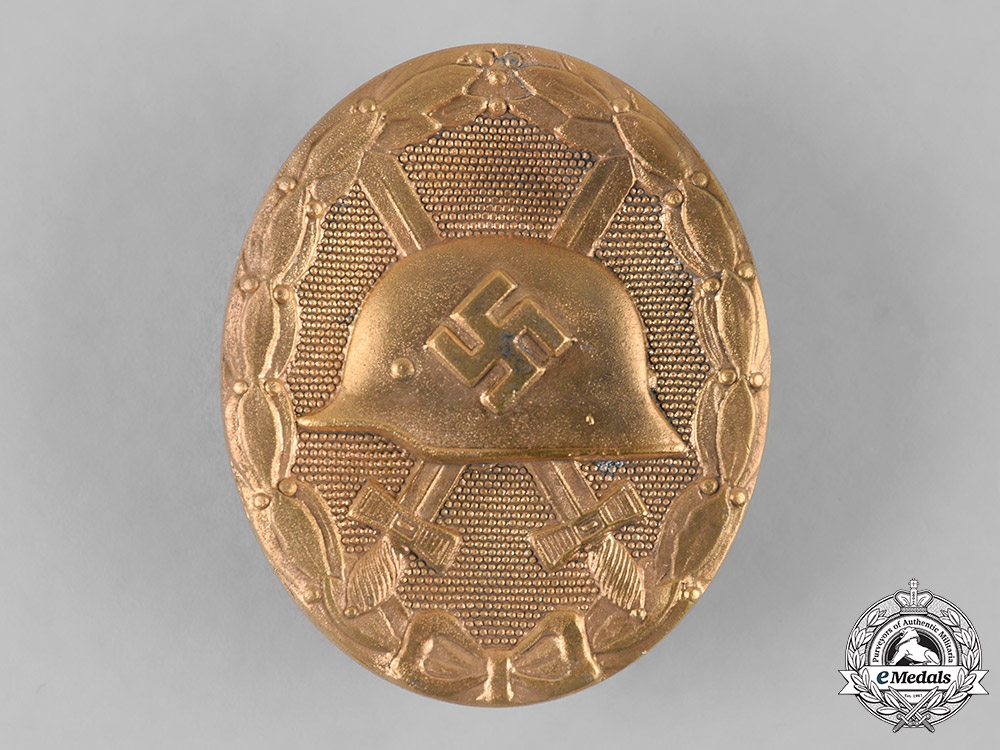 eMedals-Germany, Wehrmacht. A Wound Badge, Gold Grade, by the Vienna Mint