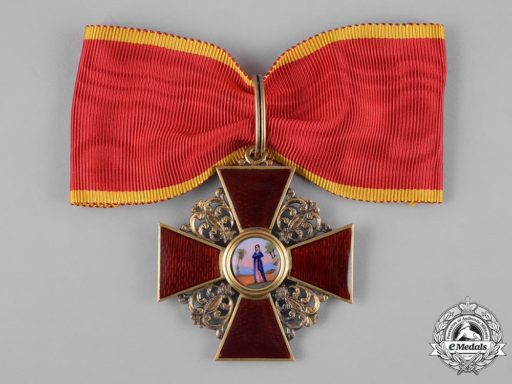 eMedals-Russia, Imperial. An Order of Saint Anne, I Class Cross, by Julius Keibel ca. 1867