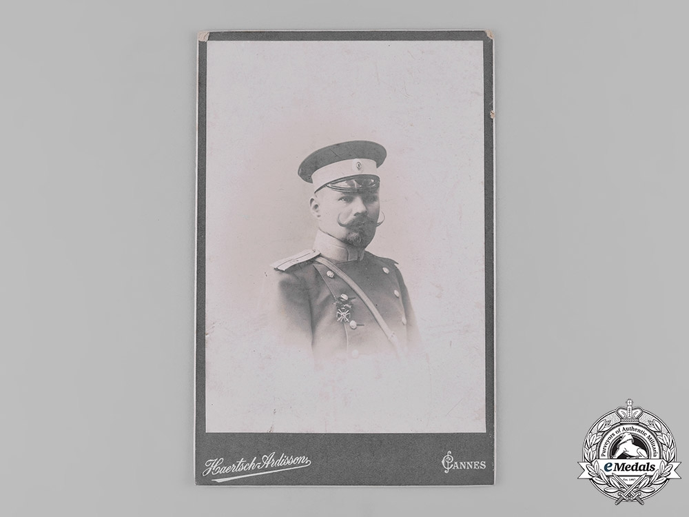 eMedals-Russia, Imperial. A Studio Photo of an Imperial Army Officer