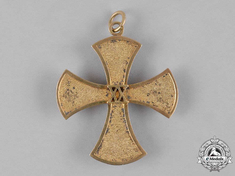 eMedals-Baden, Grand Duchy. A 20-Year Long Service Cross for Sisters of the Baden Women's League to Elisabeth Bauer, ca. 1933