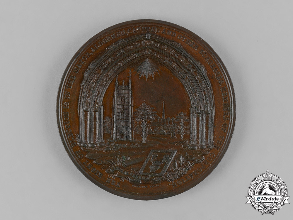 eMedals-United Kingdom. A Cockerall Election Vindication Medal, 1819, by Suffield, engr.