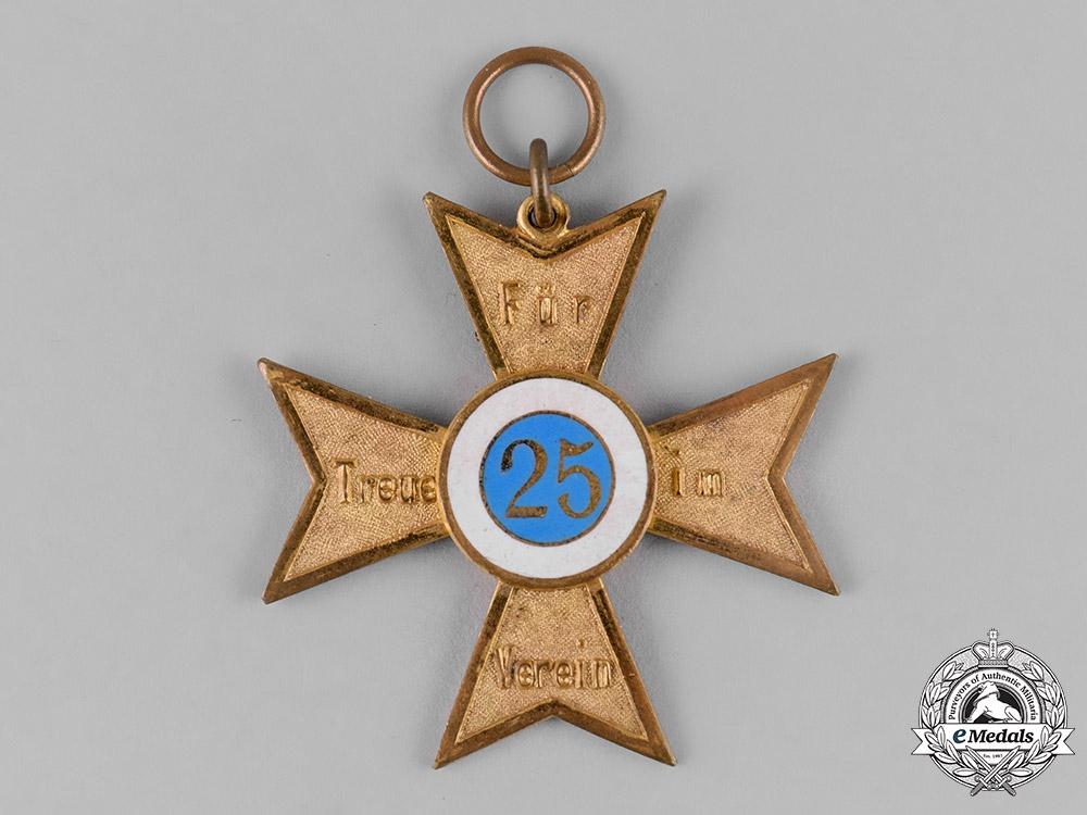 eMedals-Germany, Weimar Republic. A Veterans Association 25-Year Membership Cross