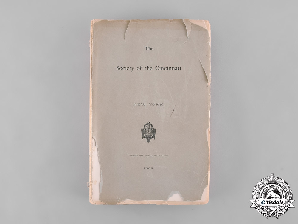 eMedals-United States. The Society of the Cincinnati Meetings Transcript, by John Schuyler, c. 1886