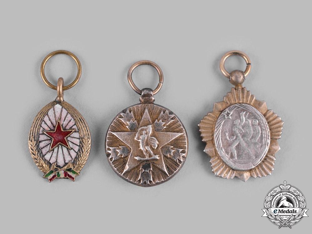 eMedals-Hungary, People's Republic; Yugoslavia, Socialist Federal Republic. Three Miniature Orders