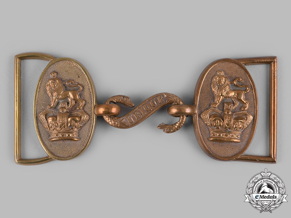 eMedals-United Kingdom. A Victorian Royal Artillery Officer's Dress Belt Buckle, c.1890