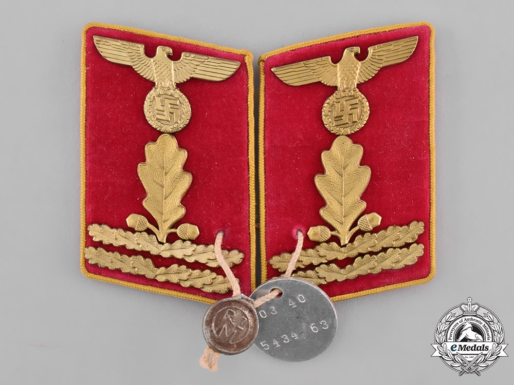 eMedals-Germany, NSDAP. A Pair of Reichs-Level Hauptabschnittsleiter Collar Tabs