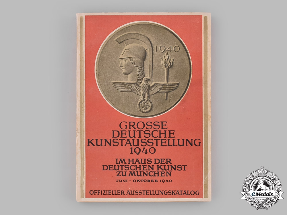 eMedals-Germany, Third Reich. A 1940 Catalogue for an Exhibition at the House of German Art