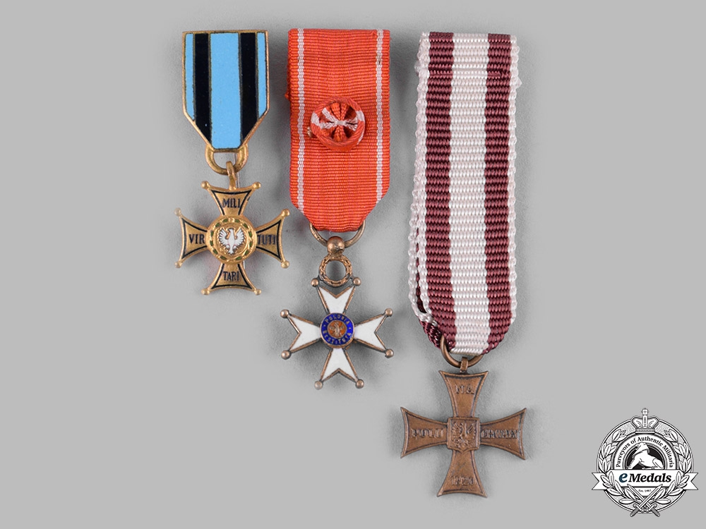 eMedals-Poland, Republic, People's Republic. Three Miniature Awards