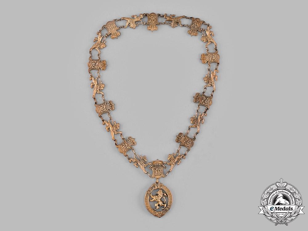 eMedals-Hesse-Damstadt, Grand Duchy. An Order of the Golden Lion, Collar Type III (Collectors Copy)