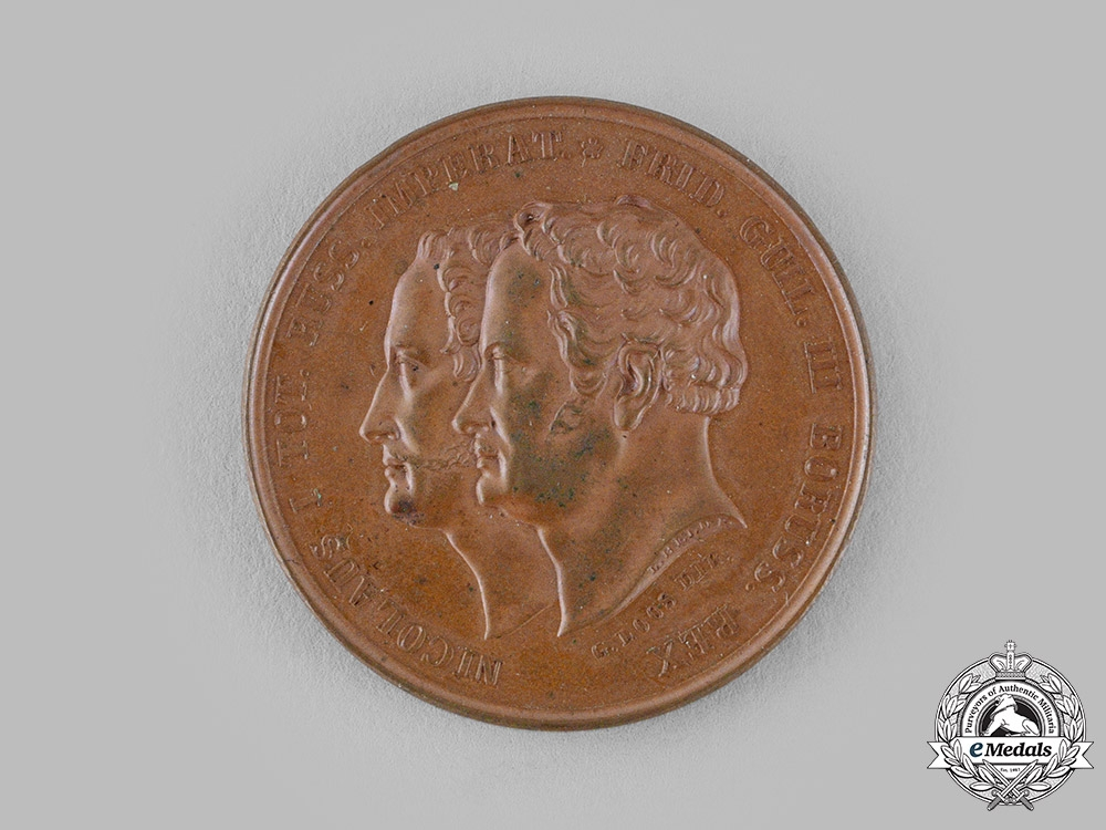 eMedals-Prussia, Kingdom. A Battle of Kalisz Russo-Prussian Medal, by G. Loos