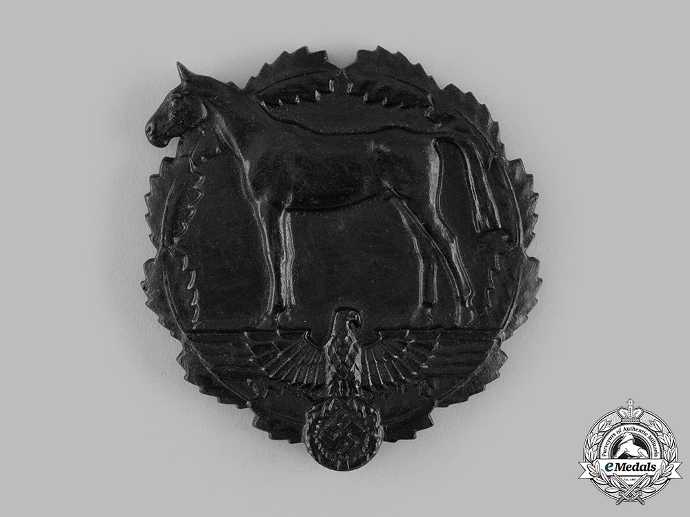eMedals-Germany, SA. A SA Plaque for Services to the National Socialist Equestrian Youth